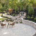 landscape design patio and waterfall